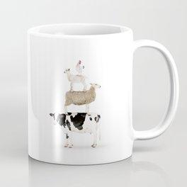 Four Stacked Farm Animals Coffee Mug