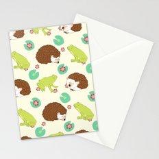 Hedgehog and Frog Stationery Cards