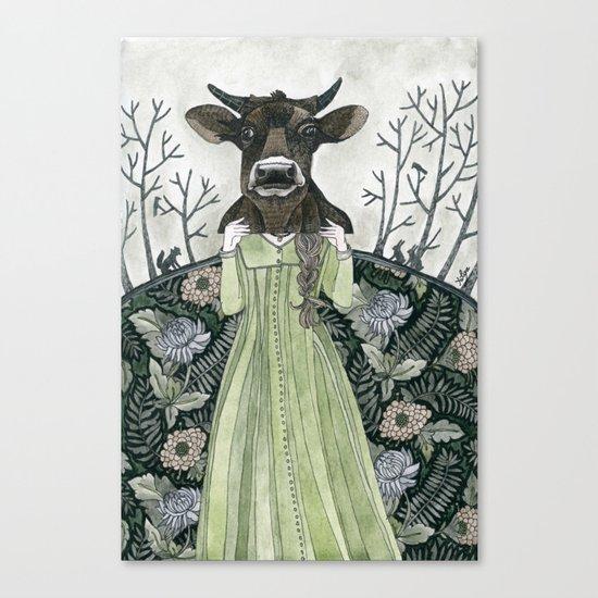 Cow Mask Canvas Print