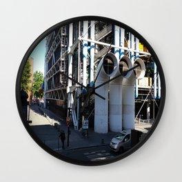 Centre Pompidou in Paris, France Wall Clock