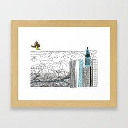Illustration_ On the road_ Jack Kerouak Framed Art Print