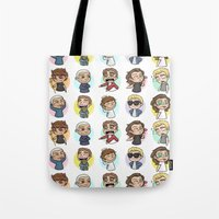 cyrilliart Tote Bags featuring Emoji 1D by Cyrilliart