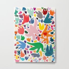 Colorful Joyful Pattern Abstract Metal Print