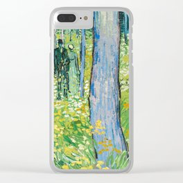 Undergrowth with Two Figures by Vincent van Gogh Clear iPhone Case