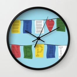 I heart Nepal Wall Clock