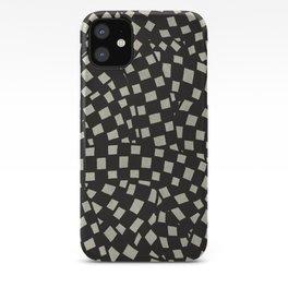 Emo Checkerboard Pattern (WHITE) iPhone Case