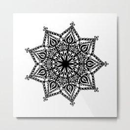 Indie Mandala: hand-drawn Metal Print