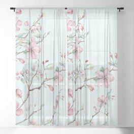 Apple Blossom #society6 #buyart Sheer Curtain