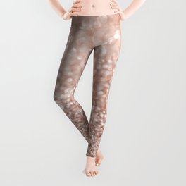 Sparkling Rose Gold Blush Glitter #2 #shiny #decor #art #society6 Leggings