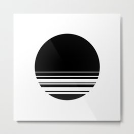 Black Whole Sun Metal Print