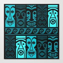 Turquoise Tikis! Canvas Print