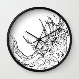 Elk  Dripped Abstract Pollock Style Wall Clock