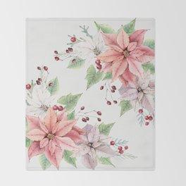 Poinsettia 2 Throw Blanket