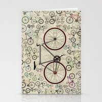 brompton Stationery Cards featuring Love Fixie Road Bike by Wyatt Design