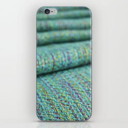 Advancing twill, hand dyed tencel iPhone Skin