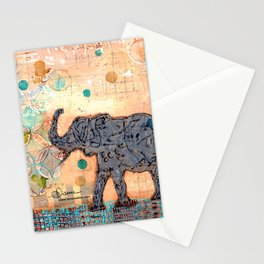 majestic series: elephant mirage Stationery Cards