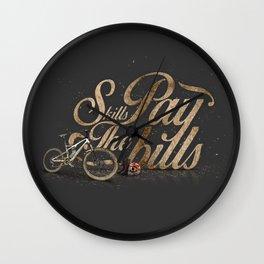 Skills Pay The Bills Wall Clock