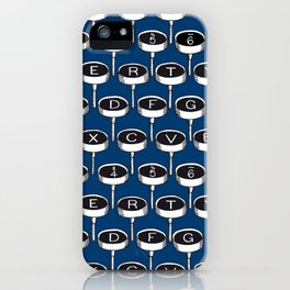 Infinite Typewriter_Blue iPhone Case