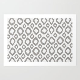 Ikat Grey Art Print