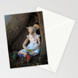 Miss Mouse under the Oak Tree Stationery Cards
