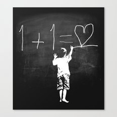 One Plus One Equals Love Canvas Print