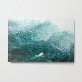 Sea Waves In Italy Metal Print
