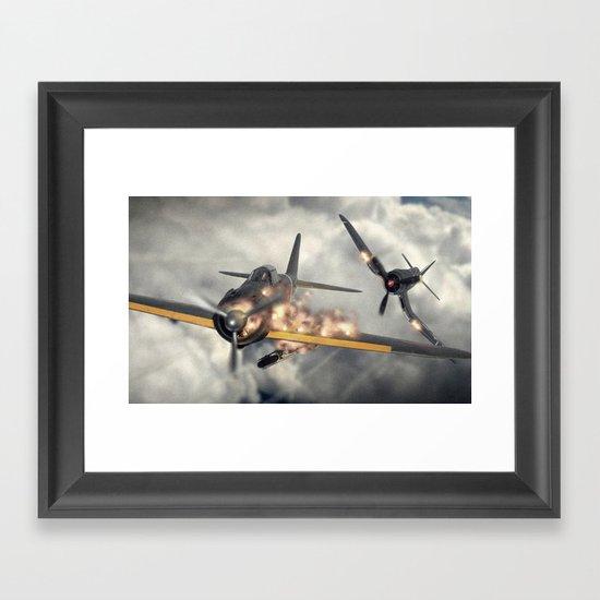 Watch your six! Framed Art Print