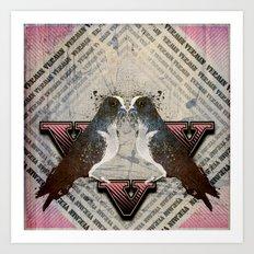 V is for Vermin  Art Print