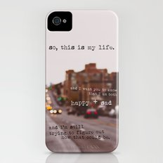 perks of being a wallflower - happy + sad Slim Case iPhone (4, 4s)