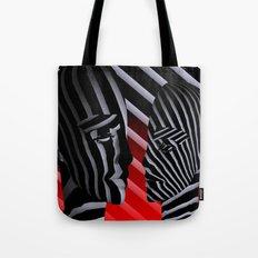 broken faces Tote Bag