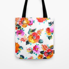 Hand-Painted Watercolor Tote Bag