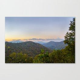 Sleepy valley town Canvas Print