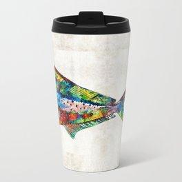 Colorful Dolphin Fish by Sharon Cummings Travel Mug