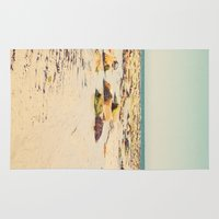 rocky Area & Throw Rugs featuring Rocky Beach by Cassia Beck