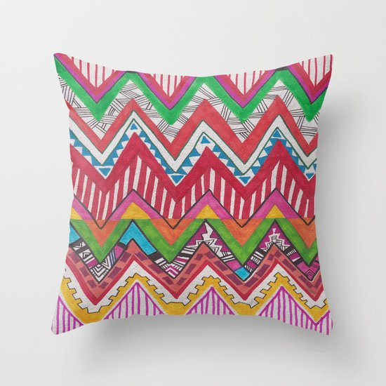 Peruvian Waves Throw Pillow