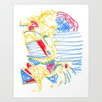 hemingway Art Prints featuring Hemingway by Rip in Space Time