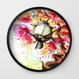 """In the red tree"" Wall Clock"