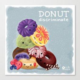 Donut Discriminate Canvas Print