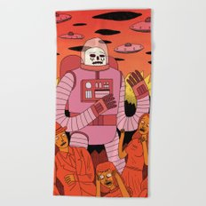 Alien Invader Beach Towel