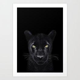Black Panther on black Art Print
