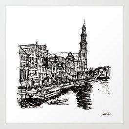 Urban Inkscape 4 Amsterdam Art Print