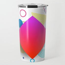 Displaced Geometry Travel Mug