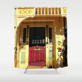 Stage Door - 1889 - No Soliciting Shower Curtain