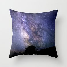 The Milky Way Violet Blue Throw Pillow