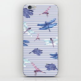 Dragonfly stripes iPhone Skin