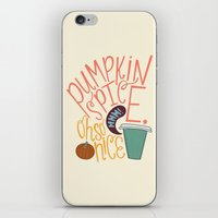 spice iPhone & iPod Skins featuring Pumpkin Spice by Chelsea Herrick
