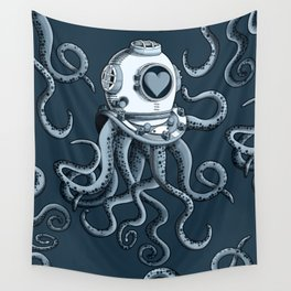 I'm falling in love with you? (blue grey) Wall Tapestry