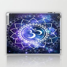 Om Mandala: Violet & Teal Galaxy Laptop & iPad Skin