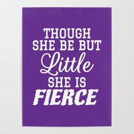 Little & Fierce (Purple) Poster