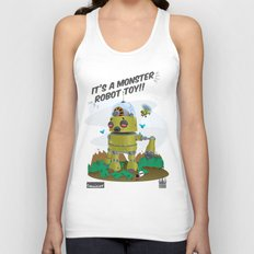 Monster robot toy Unisex Tank Top